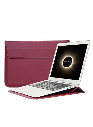 Mcstorey Apple MacBook Air Retina 13.3'' Deri Çanta Kılıf Bordo